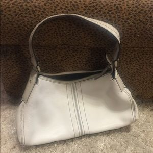 Kenneth Cole white leather shoulder bag